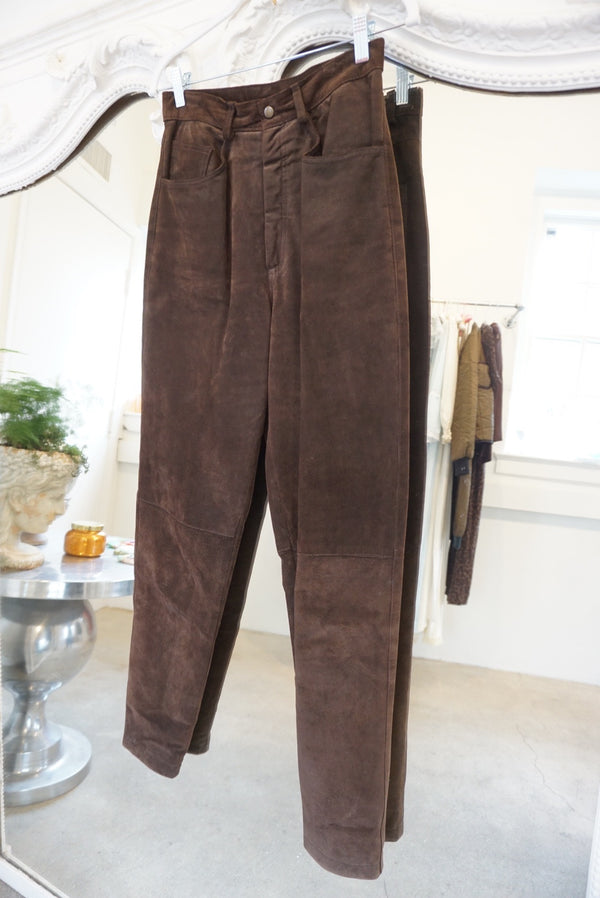 Sz. 27 Chocolate Suede Trousers