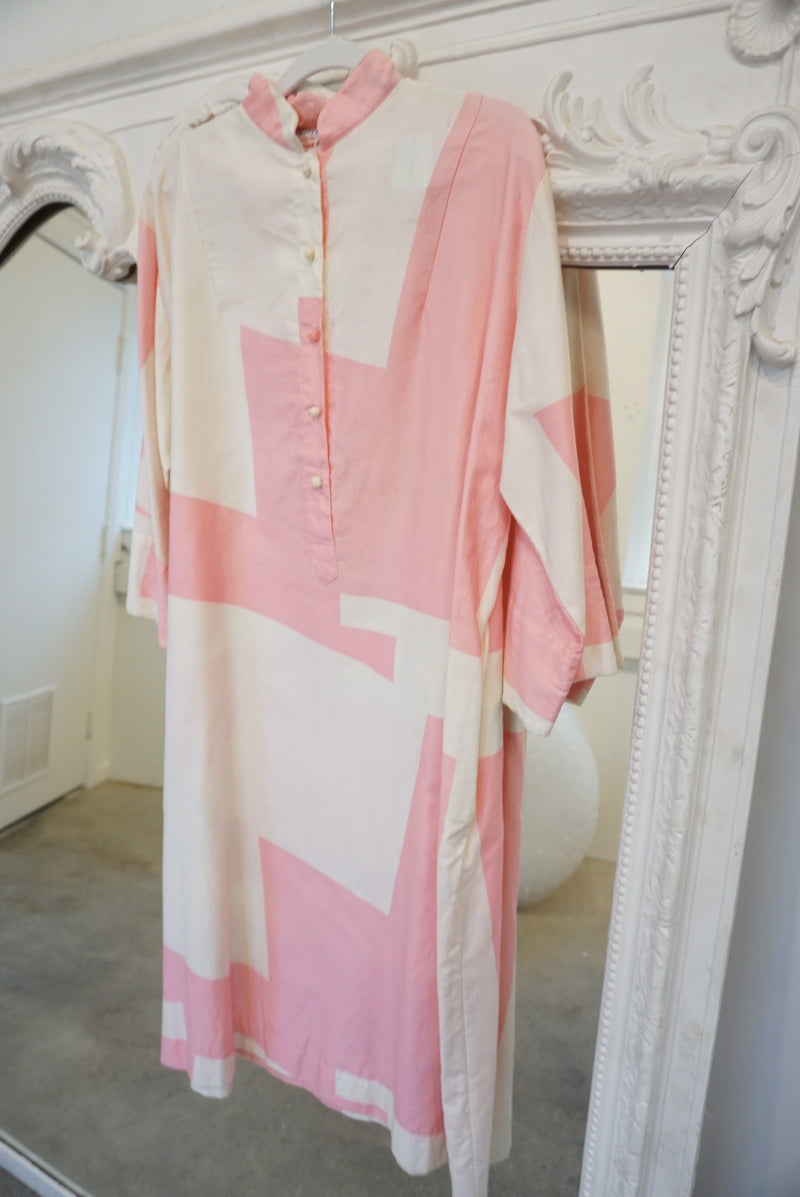 Graphic Pink Lounge Dress