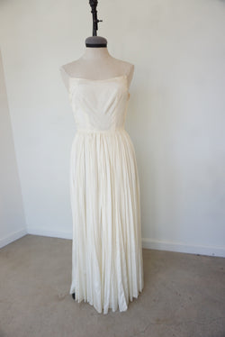 Small 50's Handmade Satin Snow Gown