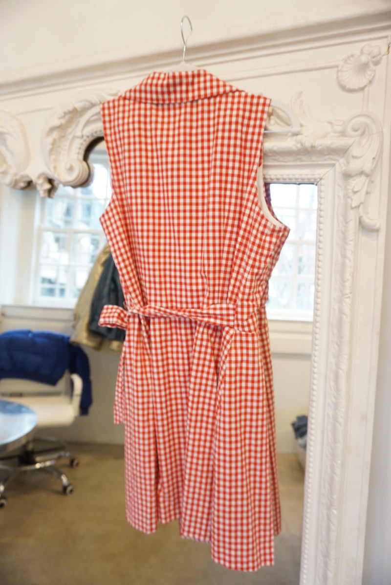Medium 90's Red Gingham Wrap Mini