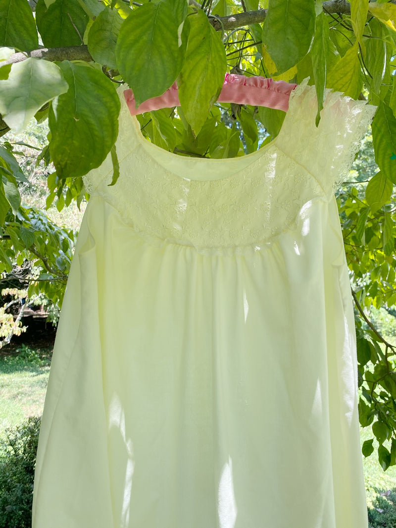 Medium Butter Yellow Baby Doll Dress