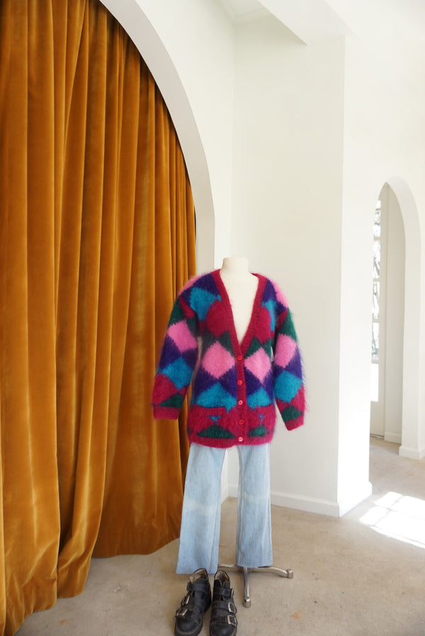 Medium 80's Fab Mohair Argyle