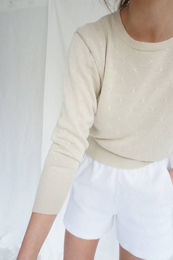 Small Silk Knit Creamy