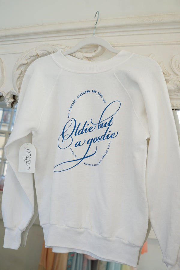 Extra Small White Oldie But A Goodie Sweatshirt