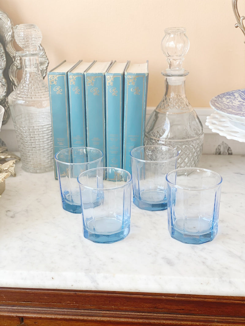 Baby Blue On the Rocks Glasses