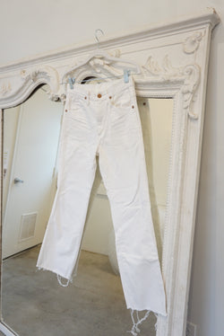 White Cropped Wranglers
