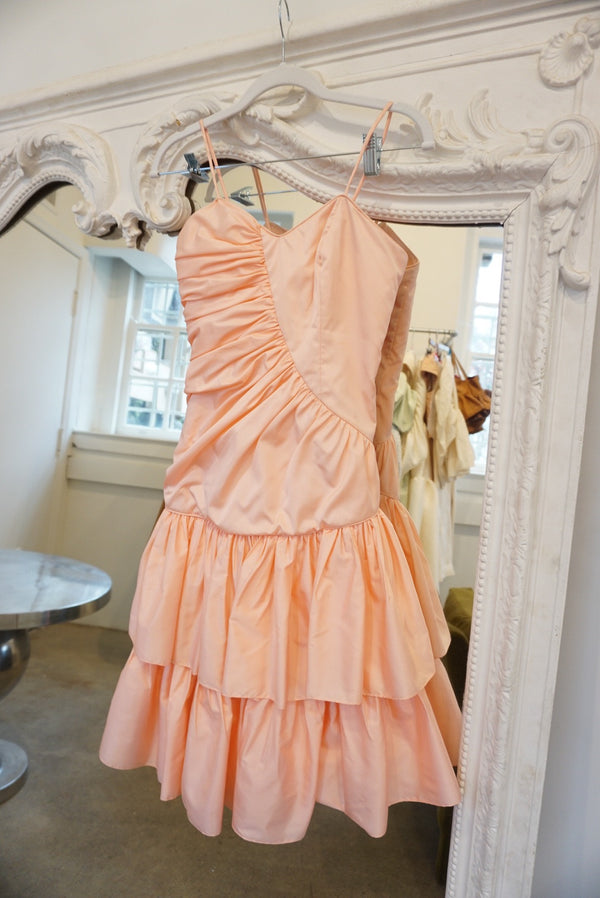 Extra Small 80's Pink Ruffle Cupcake Dress