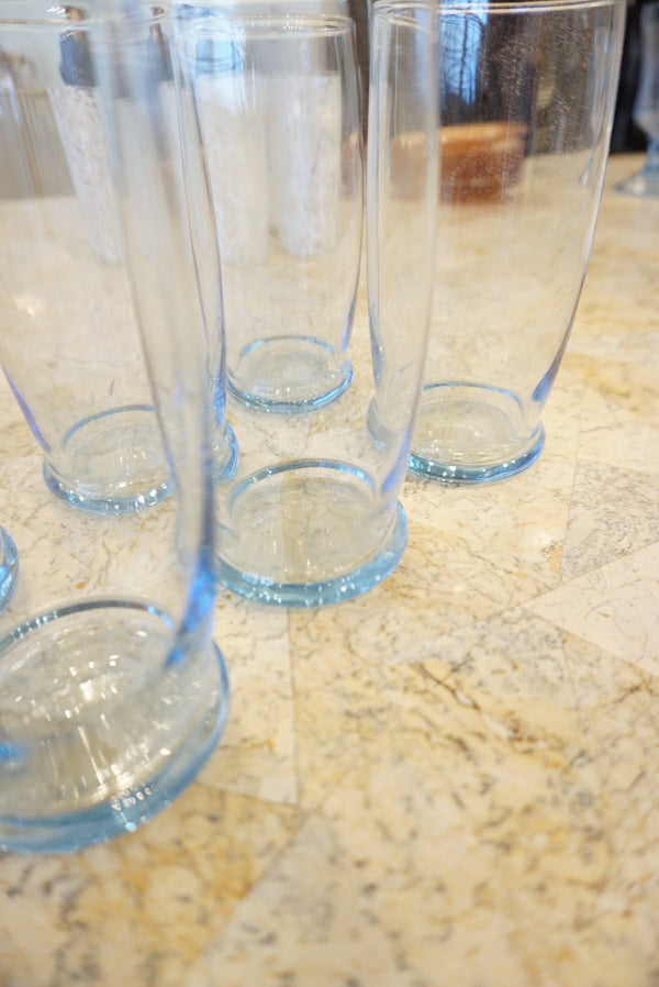 6 Periwinkle Glass Set