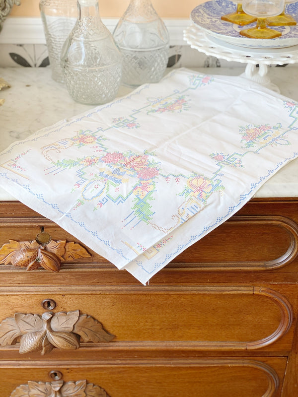 Precious Printed Embroidery Runner