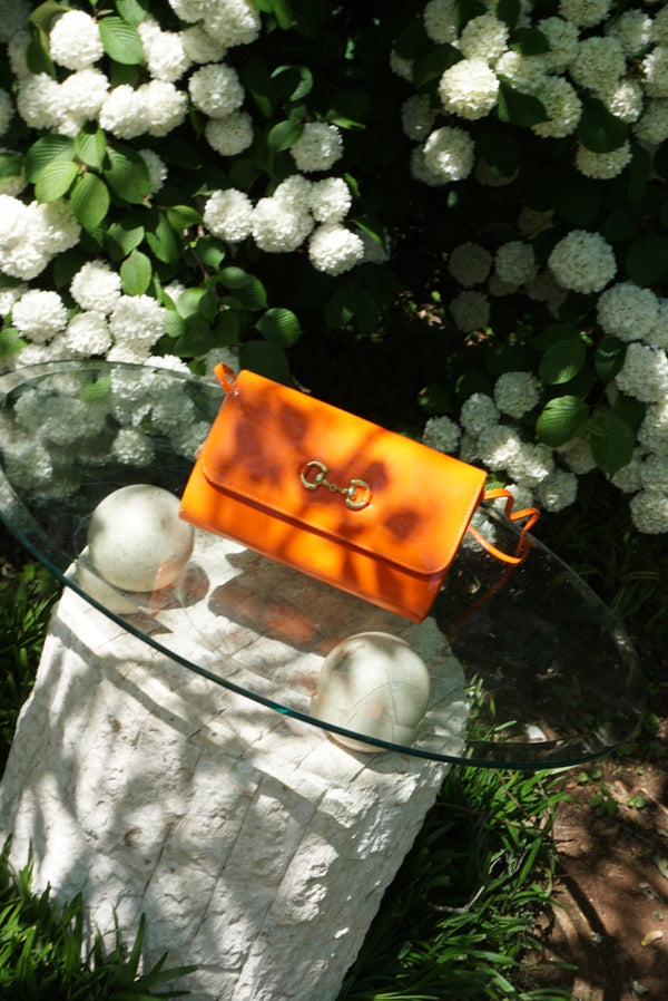 Orange Gucci Inspired Shoulder Bag