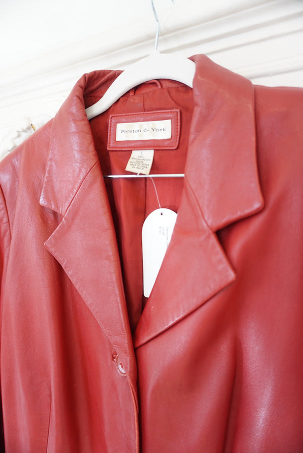 Large Genuine Leather Blazer