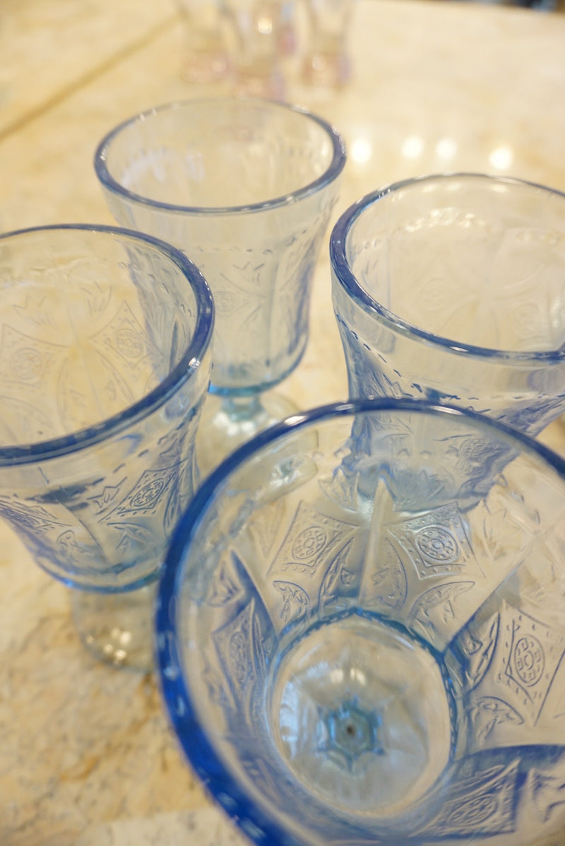 4 Baby Blue Highball Set