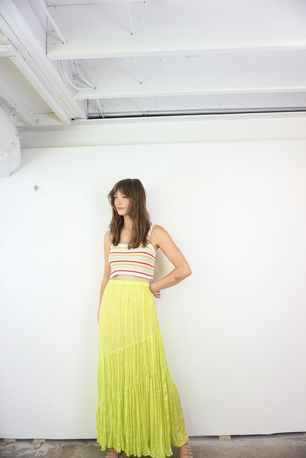 Small/Medium Lime Maxi Skirt