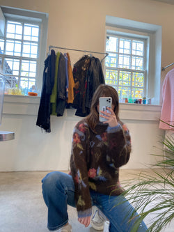 Medium 90's Mohair Floral Sweater
