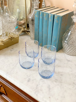 Vintage Lil' Blue Glass Set