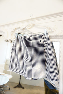 Small/medium 90's Navy Gingham Skort