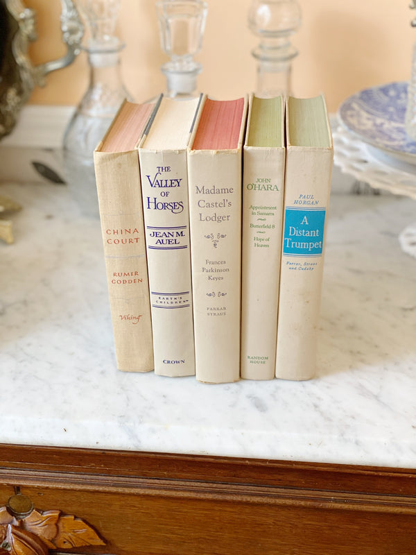 Vintage Cream Book Set