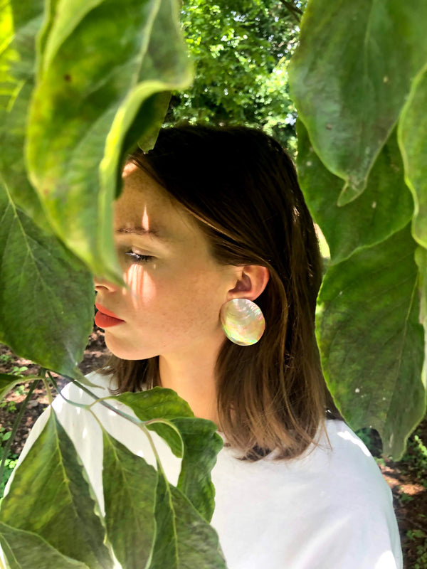 Oversized Vintage Shell Earrings