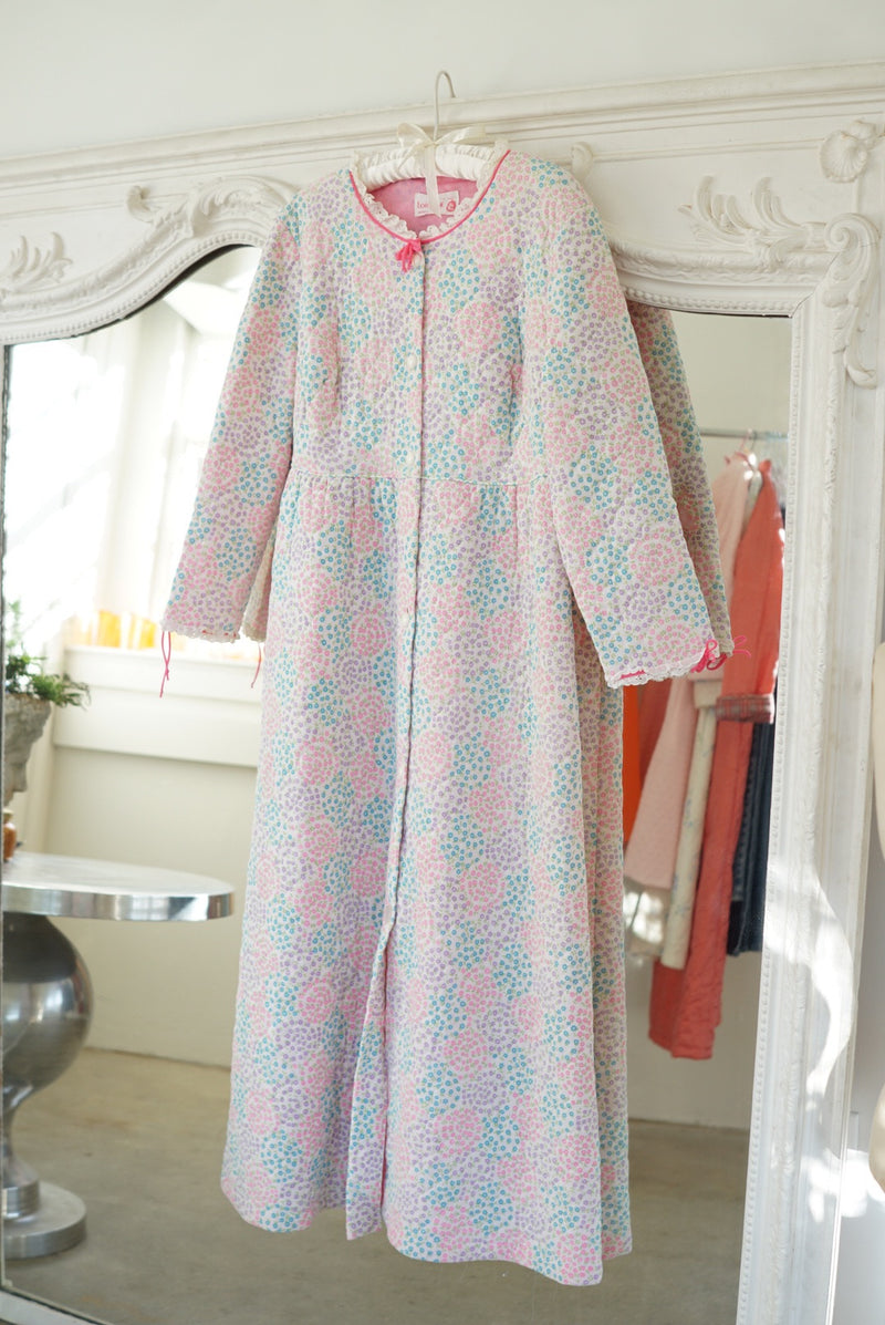 Small Flowery Fields Quilted Bedcoat