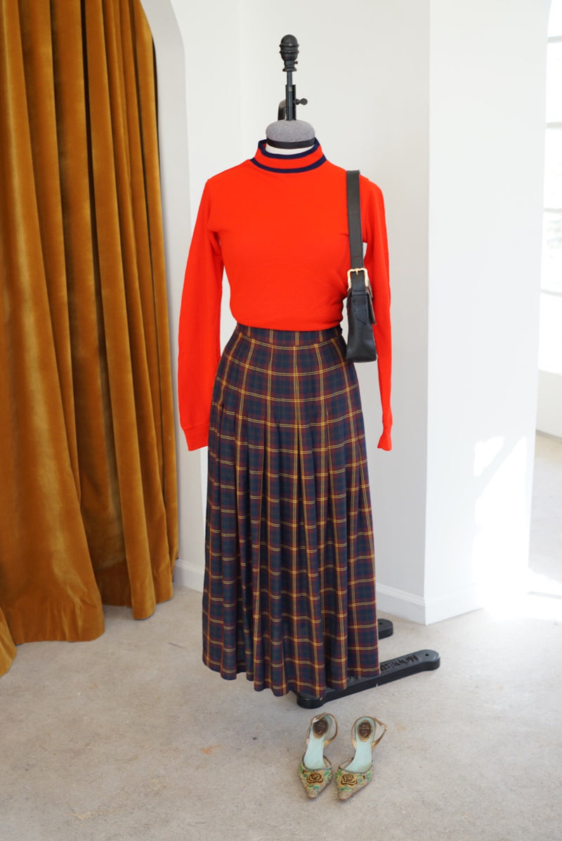 S 90's Gap Fall Perfection Tartan Skirt