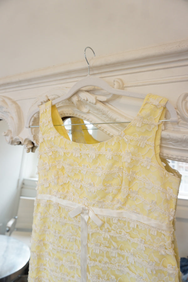 Extra Small 50's Baby Yellow Mini Cupcake Dress