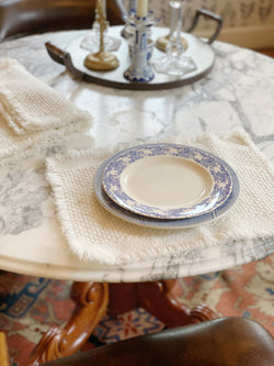 Fluffy Cream Color Placemat Set