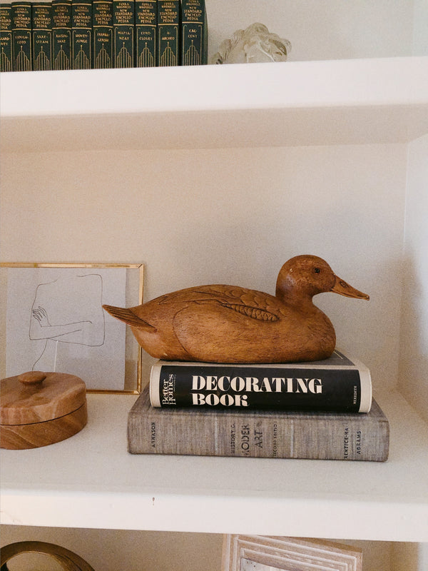 Handmade Wooden Duck