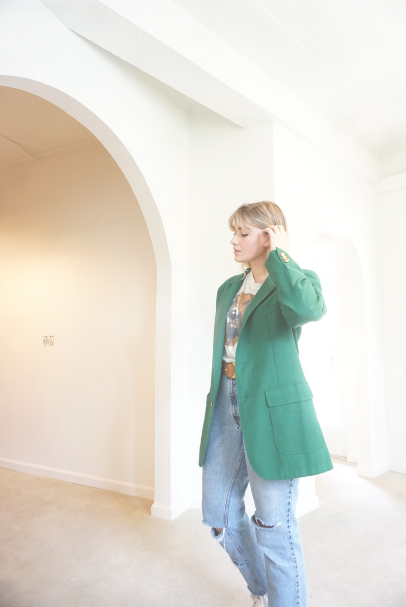 Large Fabulous Forest Green Blazer