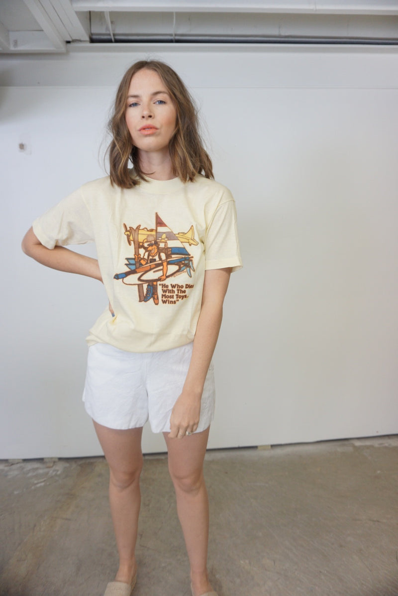 Small Single Stitch Summer Print T