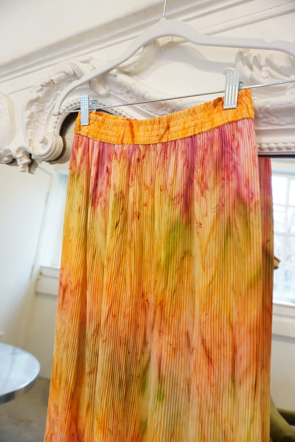 Small/Medium Y2K Micro Pleat Maxi Skirt