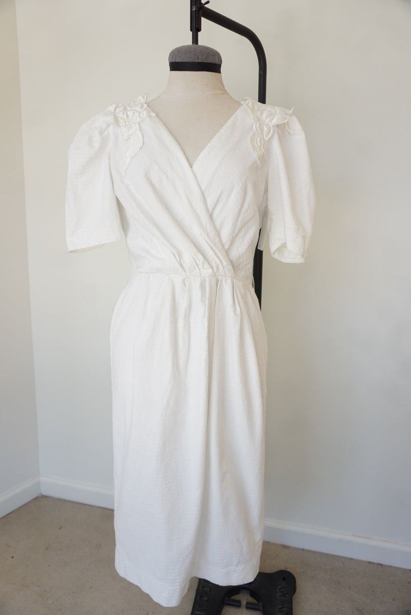 Medium/Large 80's Lili Rubin White Dress