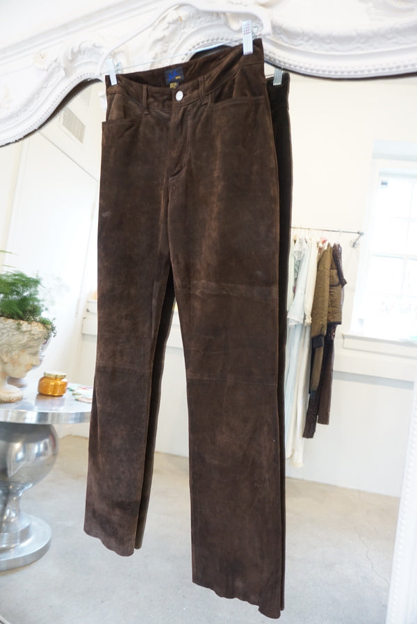 Sz.27 Chocolate Brown Suede Trouser