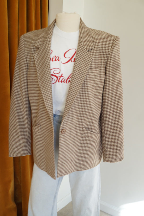 Medium Perfect Petite Houndstooth Blazer