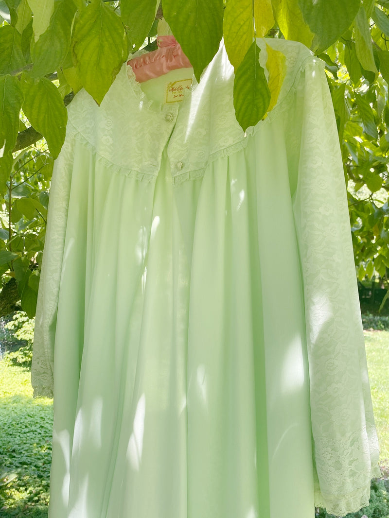 Medium Mint Green Dressing Gown