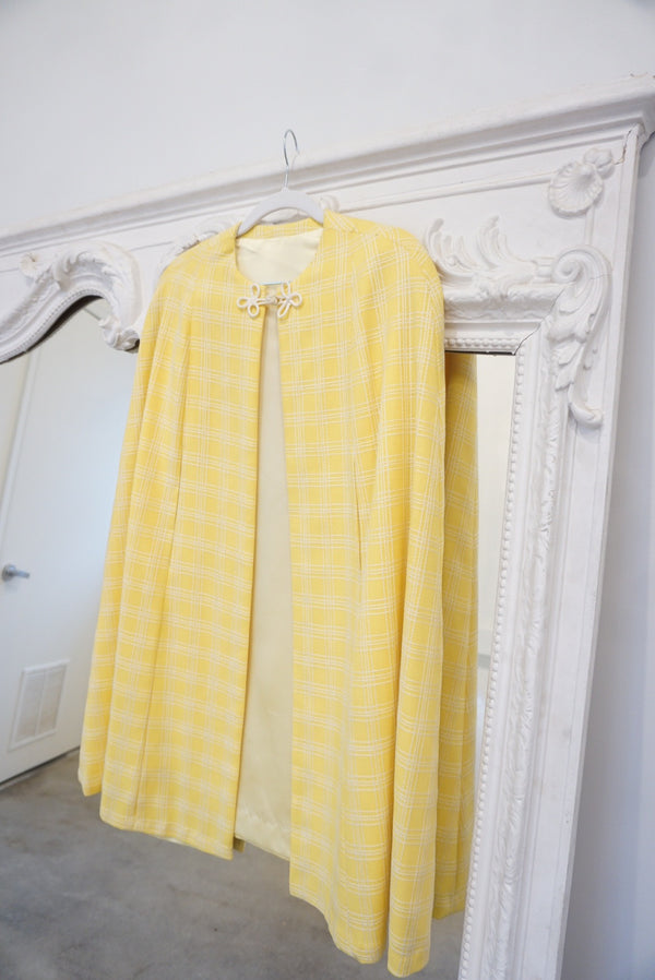 Sunshine Plaid Picnic Cape