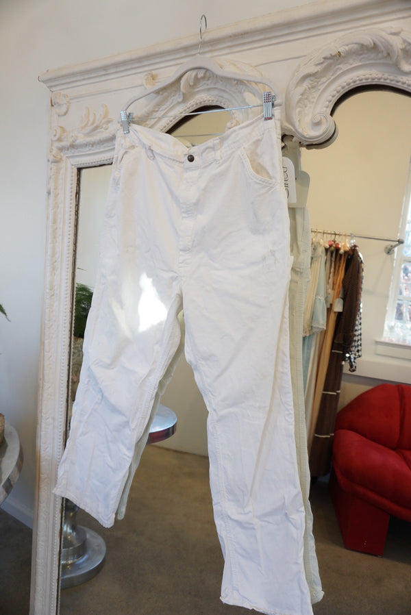 "Waist 36"" White Painter Pants"