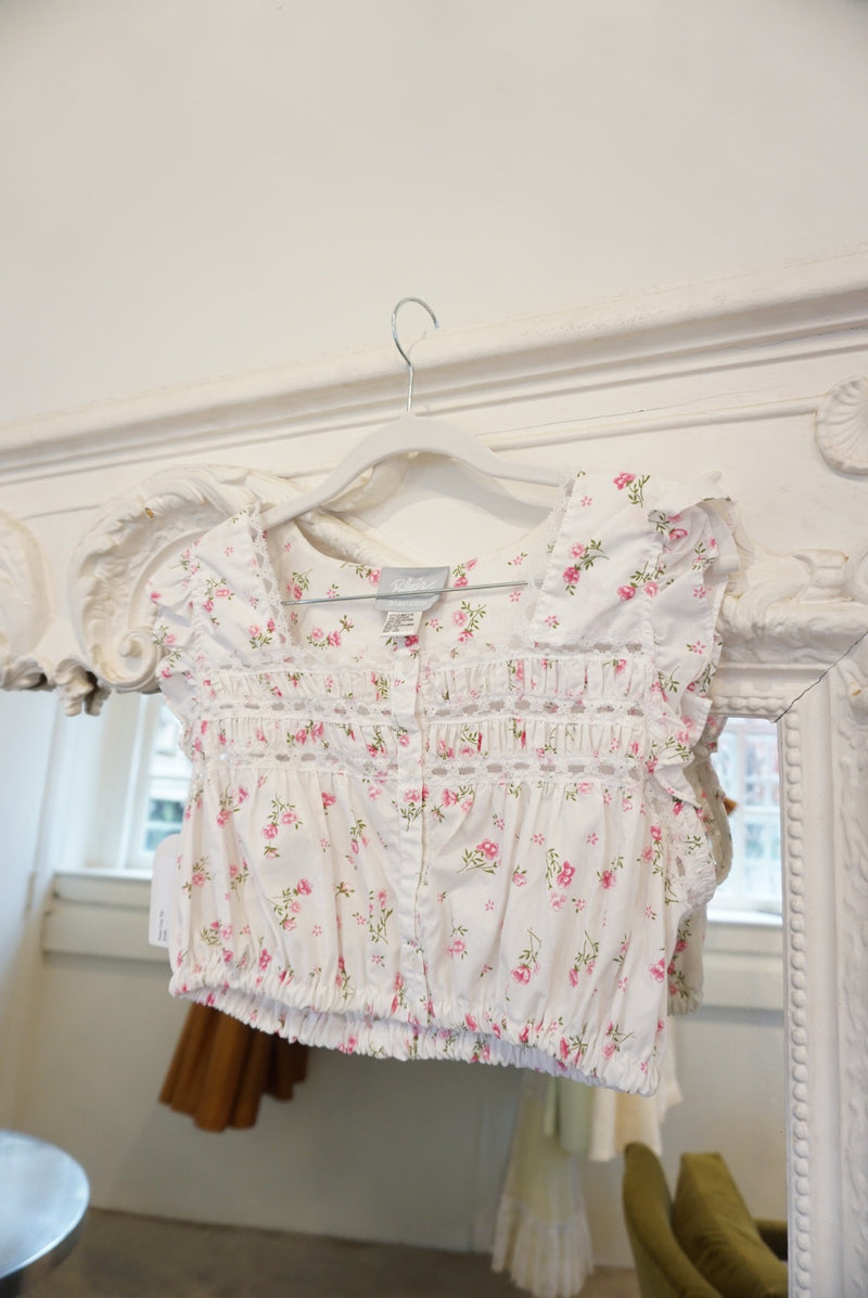 Small Rose Crop Top