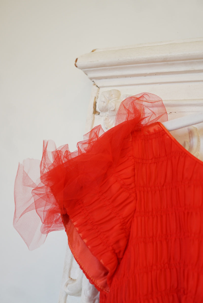 Small 50's Holiday Red Party Dress