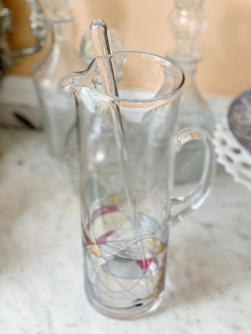 Ritzy Glass Pitcher and Stirrer
