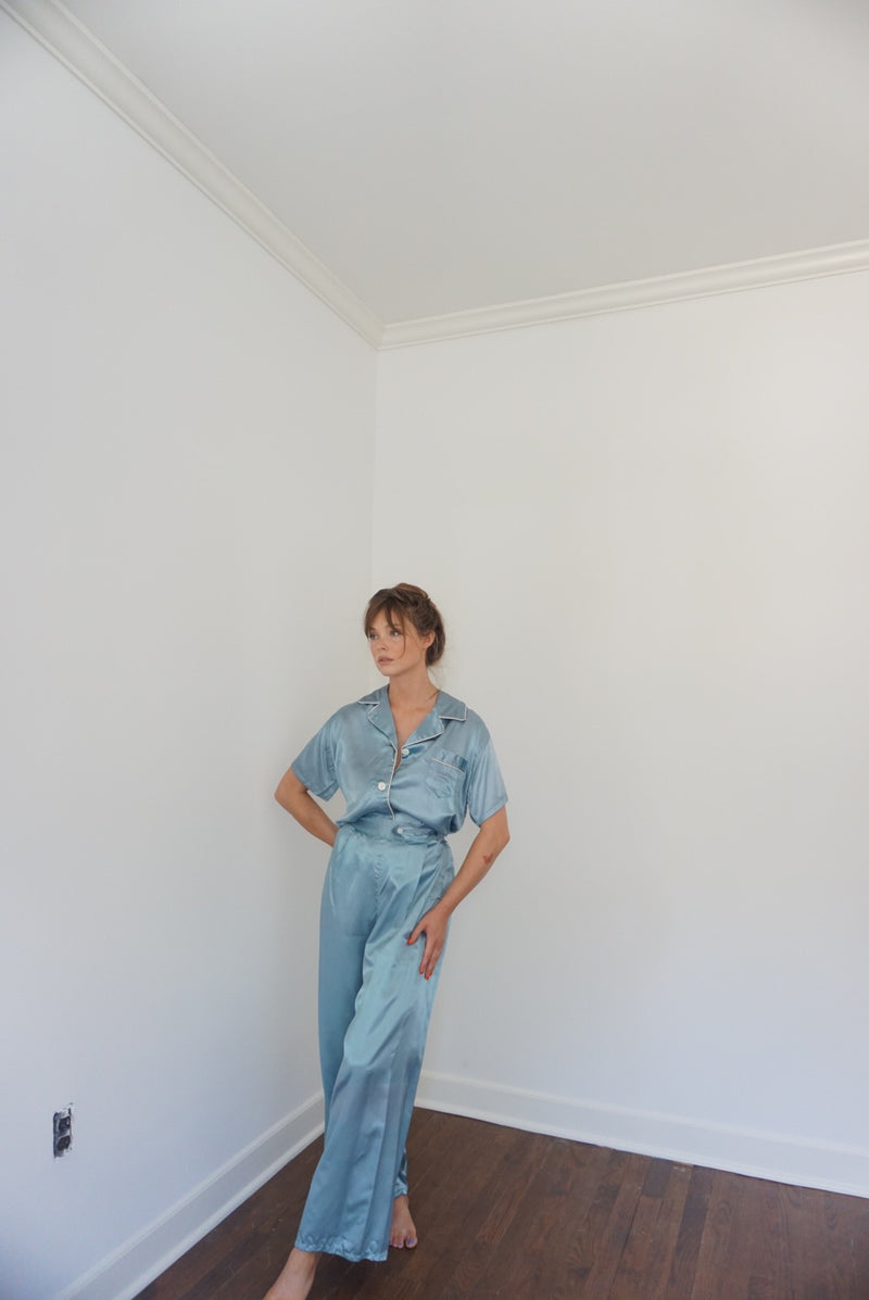Size 4 40s Silk Pant Suit 2 Piece