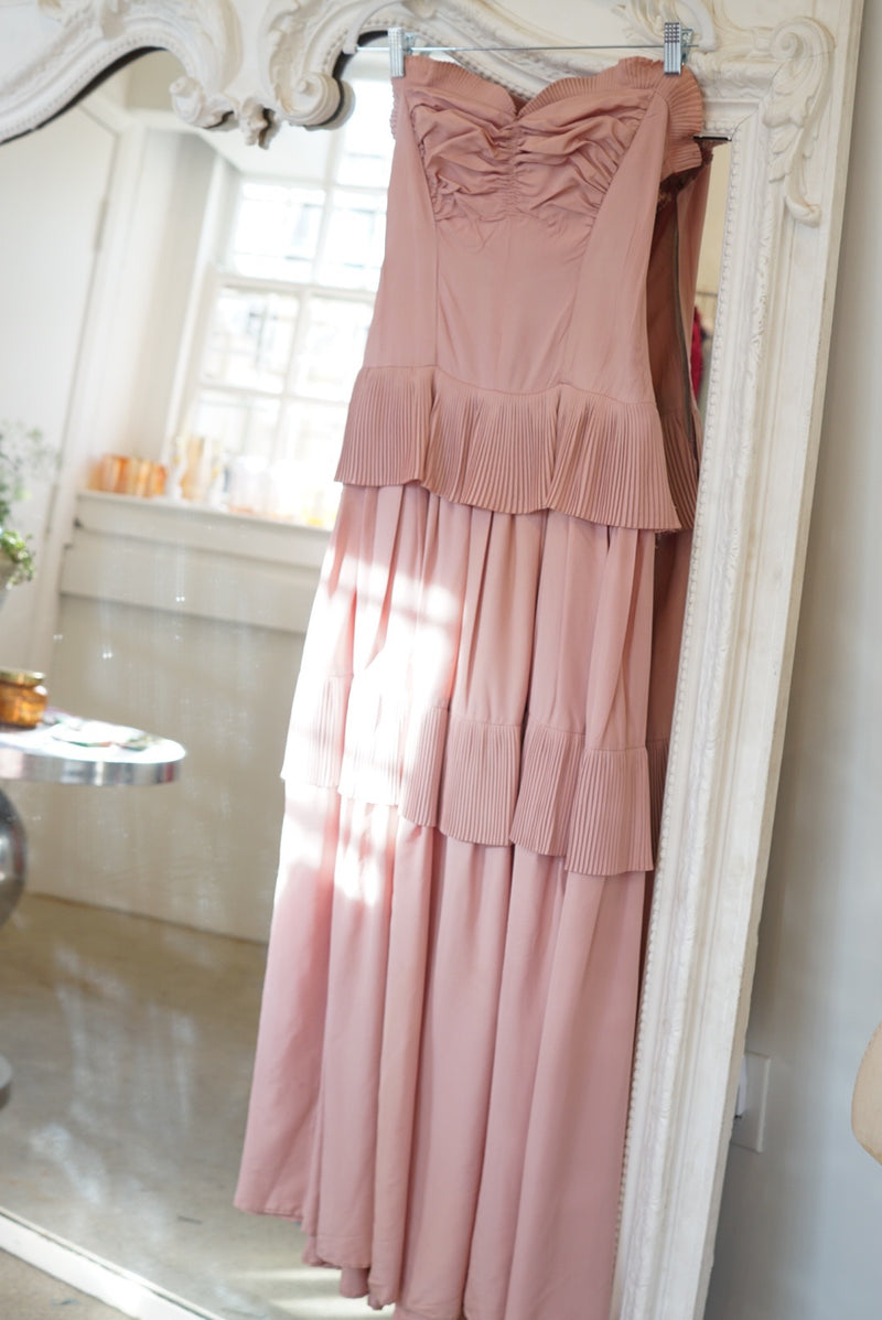 Sz. 4 30s Blush Tiered Midi