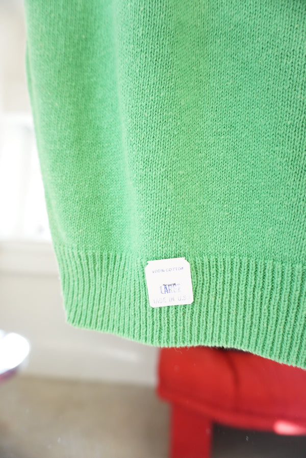 Medium/Large Lime Sweater Vest Deadstock