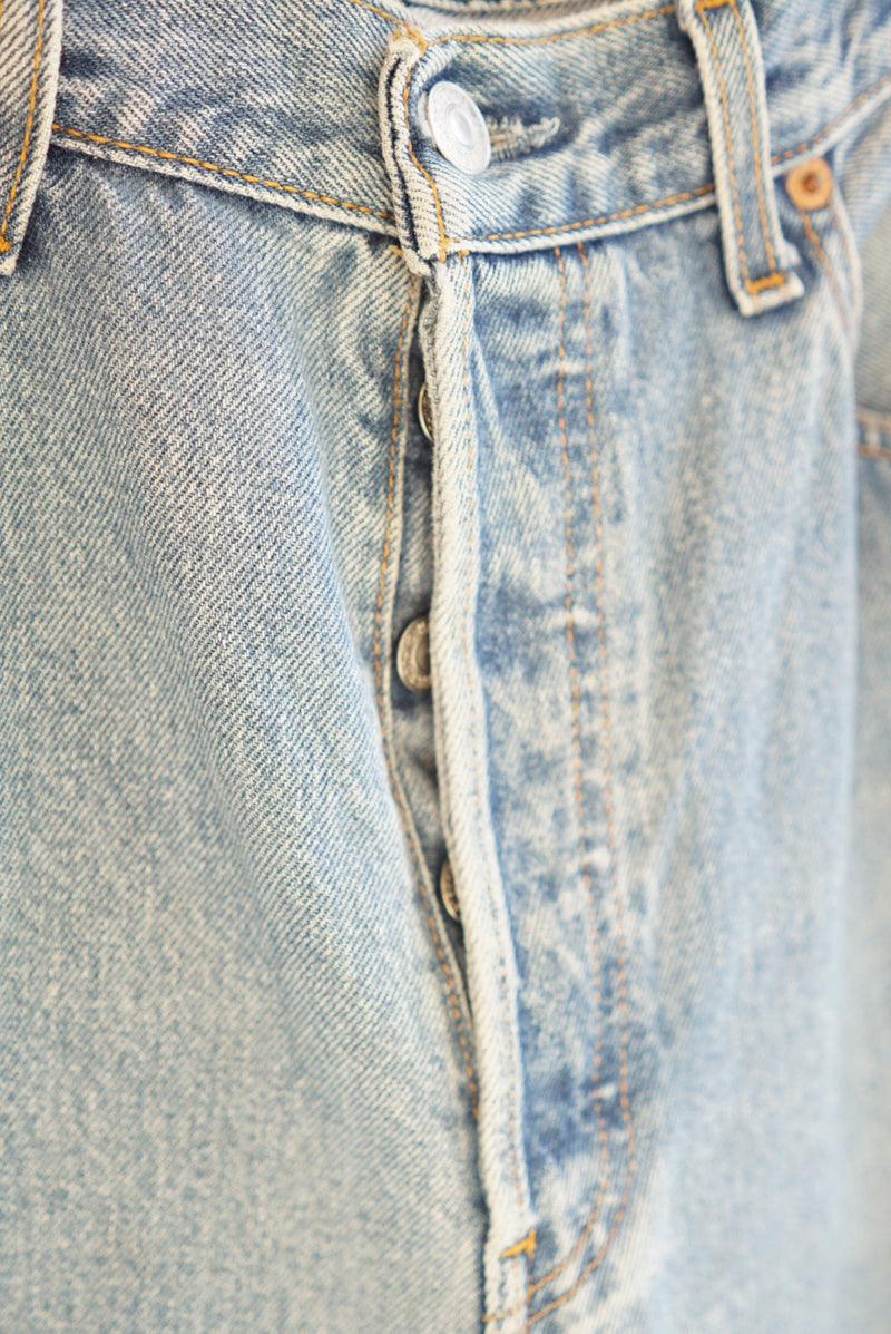 Waist 34 Levis Button Fly Med Wash