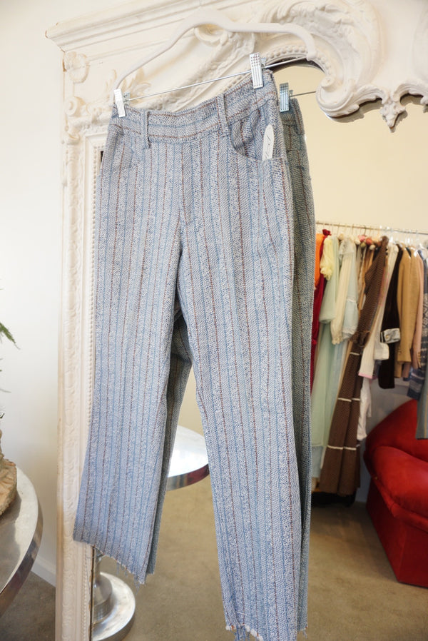 "Waist 27"" Woven Striped Pants"