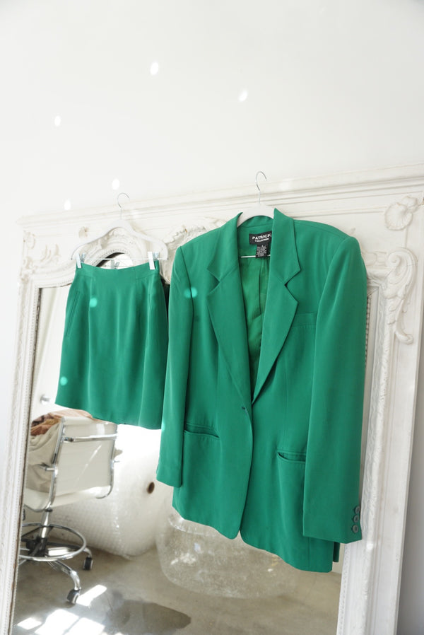 Small Silk Mini Suit Green