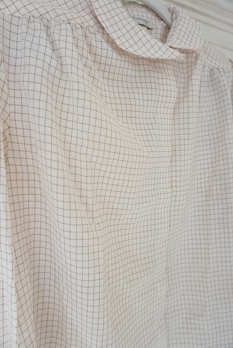 Medium 80's Thin Check Blouse