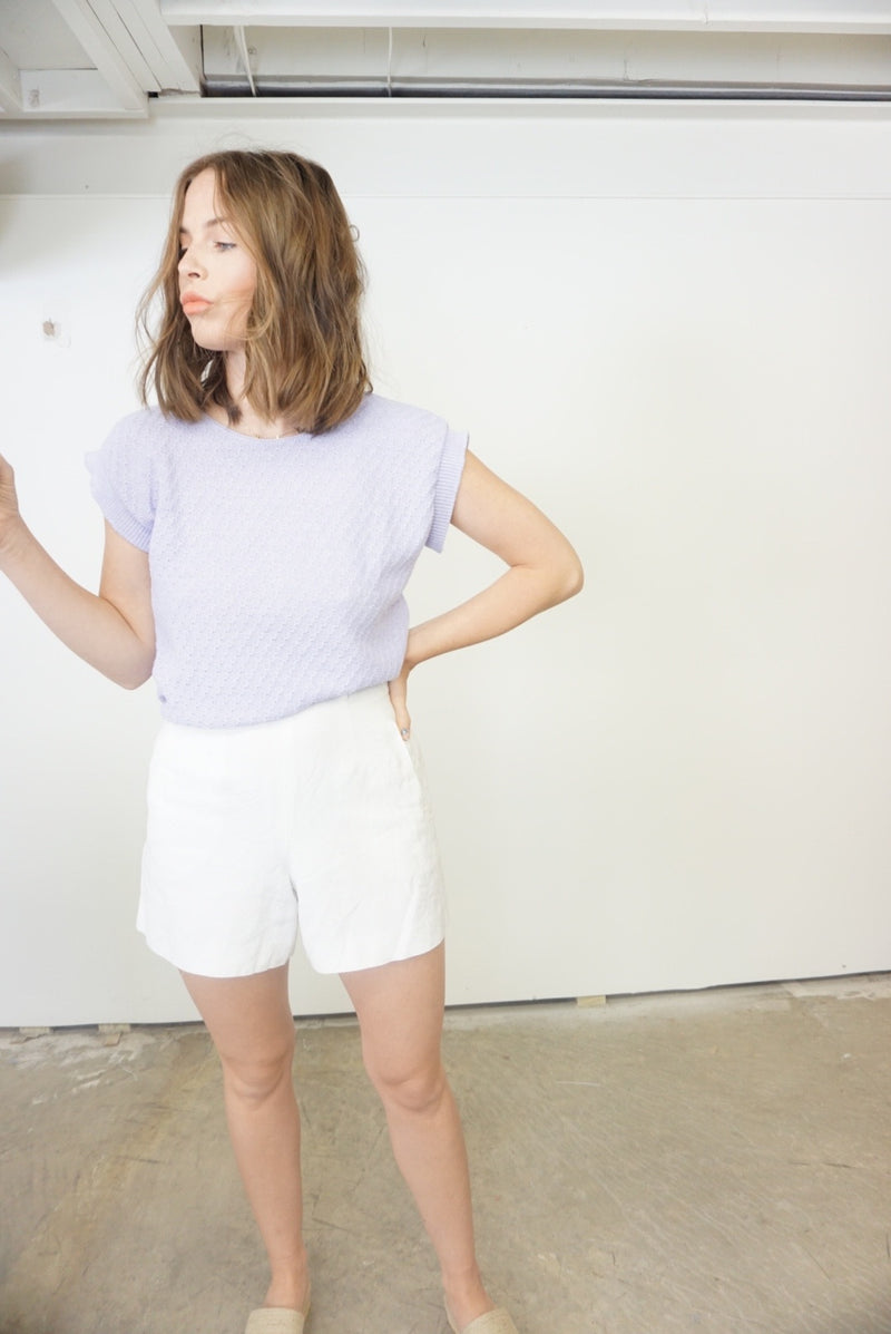 Small Lilac Sweater Top