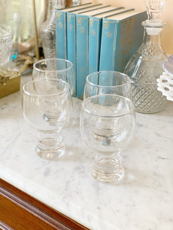Vintage Beer Goblet Set