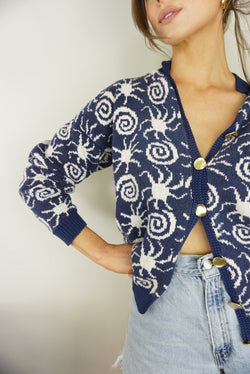 Medium Navy Knit Summer Sweater