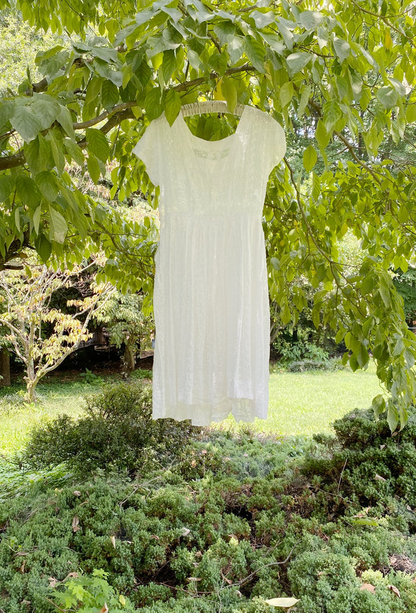 Small Vintage Eyelet Picnic Dress
